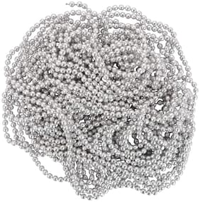 Vardhman Jewellery Making Ball/Stone Chain Wholesale Pack 10 MTS,Color Silver,Size 1.5 mm,Decorating & Craft Work.