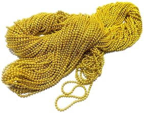 Vardhman Jewellery Making Ball/Stone Chain Wholesale Pack 10 MTS,Color Gold,Size 1.5 mm,Decorating & Craft Work.
