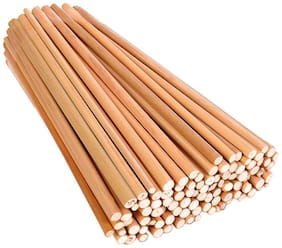 "Vardhman Unfinished Round Bamboo Sticks, 350 pcs, 9"" Length,for DIY Model Building Craft"