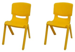 Swell Variety Gift Centre Yellow Plastic Chair Set Of 2 Download Free Architecture Designs Itiscsunscenecom