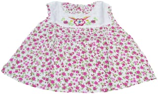 VBaby Baby girl Cotton Floral Princess frock - Pink