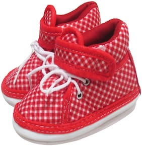 VBaby Red Casual Shoes For Infants