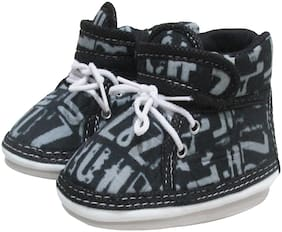VBaby Black Casual Shoes For Infants