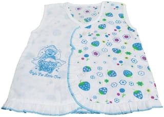 VBaby Baby girl Cotton Floral Princess frock - Blue
