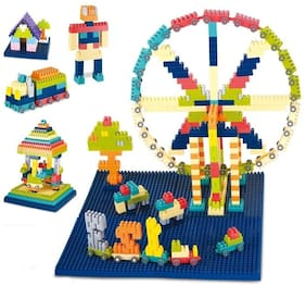 VBE 300 Pcs Junior Builder Blocks Educational Construction Puzzles Learning Activity Game for Kids Toys Multi