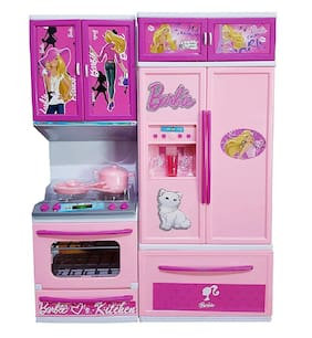 VBE Battery Operated Cooking 2 Fold Kitchen Play Set with Light and Sound for Kids