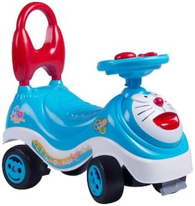 VBE Cartoon Rider Ride-on with Music Handle & Non Pedal Skate Type Ride-on For Home & Outdoor use (Blue)