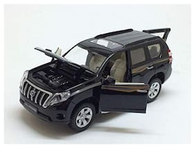 VBE Die-Cast Land Cruiser Model   Pull Back Car Toy with Light & Sound (Black)