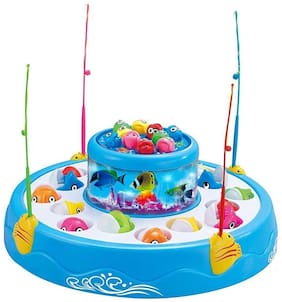VBE Fish Catching Game Big with 26 Fishes and 4 Pods;Includes Music and Lights