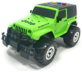 VBE Friction Powered Pull Back Vehicles Jeep Light and Sound Toy for Kids