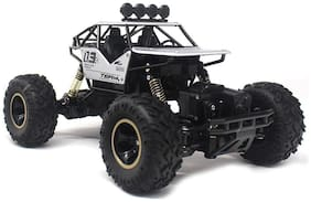 VBE Metal Remote Controlled Rock Crawler RC Monster Truck;4 Wheel Drive Car For Kids (White)