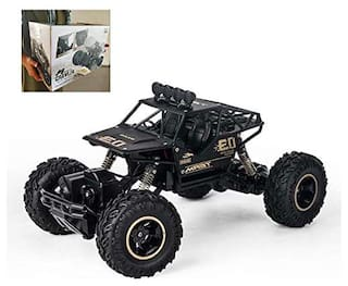 VBE Metal Remote Controlled Rock Crawler RC Monster Truck;4 Wheel Drive Car For Kids (Black)