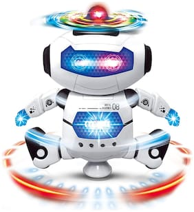VBE Musical & Dancing Naughty Robot/ Dancing Toy Dancing Robot with 3D Lights and Music
