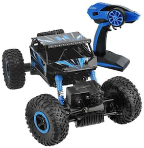 VBE RC Rock Crawler Vehicle Remote Control Monster Off Road Truck for kids (Blue)