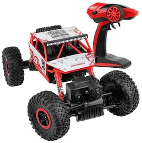 VBE RC Rock Crawler Vehicle Remote Control Monster Off Road Truck for kids (Red)