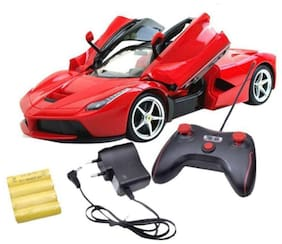 VBE Remote Controlled Rechargeable Ferrari With Opening doors car for kids (Red)