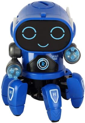 VBE Robot Pioneer Lights and Music Colorful All Direction Movement Dancing Robot Toys for Boys and Girls (Orange)
