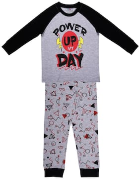 Ventra Nightwear For Boy Grey And Black