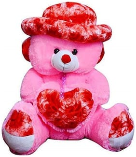 SAMAYRA TOYS Pink & Red Teddy Bear - 171 cm
