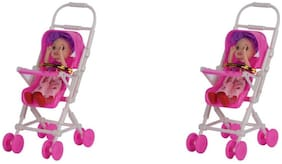 VHPQ Cute & Pretty Small Hand Size Doll Infant Carrier Doll for Girls Set of 2