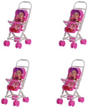VHPQ Cute & Pretty Small Hand Size Doll Infant Carrier Doll for Girls Set of 4