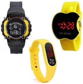 Vibama  CutAppl-7 Light-M2 Stylish 3 Analog Combo For Kids New Fancy And Wrist Watch Analog Watch - For Boys & Girls