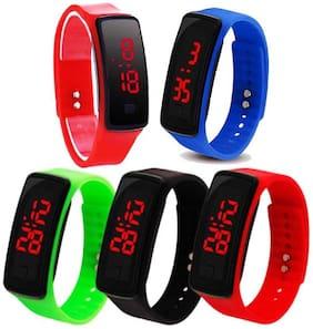 Vibama Silicon Led Bracelet Original Button Best Return Gift For Boys And Girls Digital Watch