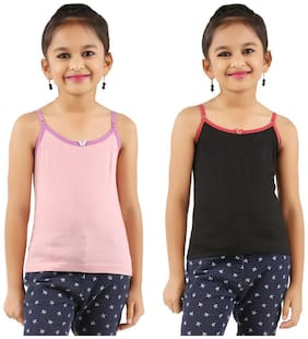 Vica Pota Vest for Girls - Multi , Set of 2