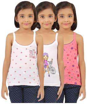 Vica Pota Vest for Girls - Pink , Set of 3