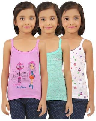 Vica Pota Vest for Girls - Multi , Set of 3