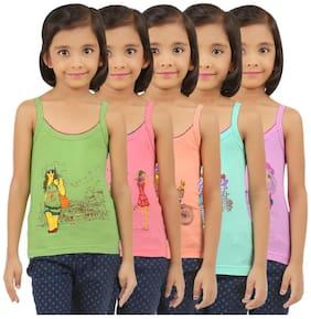 Vica Pota Vest for Girls - Multi , Set of 5