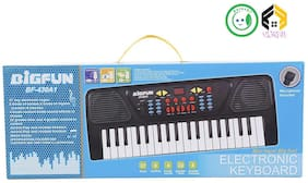 Vijkan Aarushi Latest 37 key Piano Keyboard with Recording Function and Microphone (Black)
