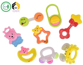 Vijkan Aarushi Non Toxic Activity Musical Rattles Set of 8