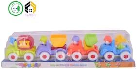 Vijkan Aarushi Unbreakable Automobile Trucks Construction Machine Toys Set For Kids (Set Of 4)