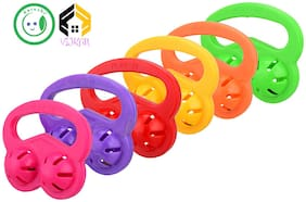 Vijkan Aarushi Infants Musical Rattle Jhunjhuna New Born Toys Set of 6 pcs (Multicolor)