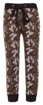 VIMAL JONNEY Girl Cotton blend Track pants - Green