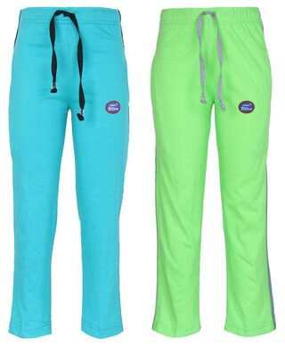 Vimal Multicolor Cotton Trackpants For Boys(pack Of 2)