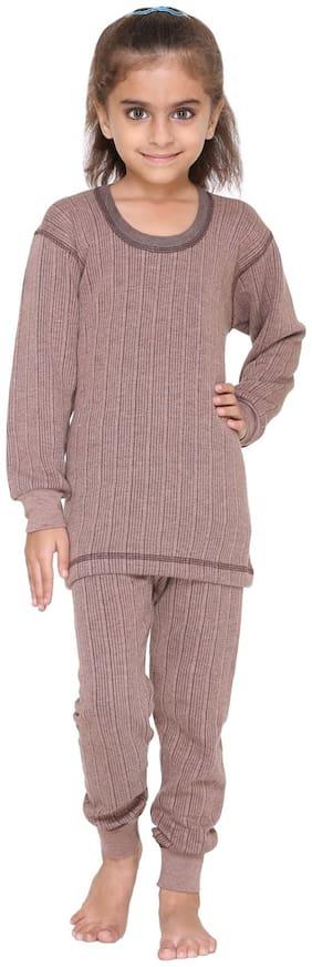Vimal Jonney Premium Blended Coffee Thermal Top & Pyjama Set For Girls