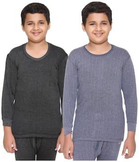 Vimal Jonney Premium Blended Multicolor Thermal Top For Boys(pack Of 2)