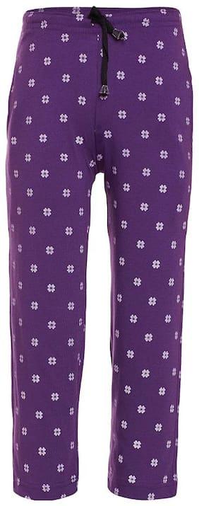 Vimal Boy Cotton blend Track pants - Purple