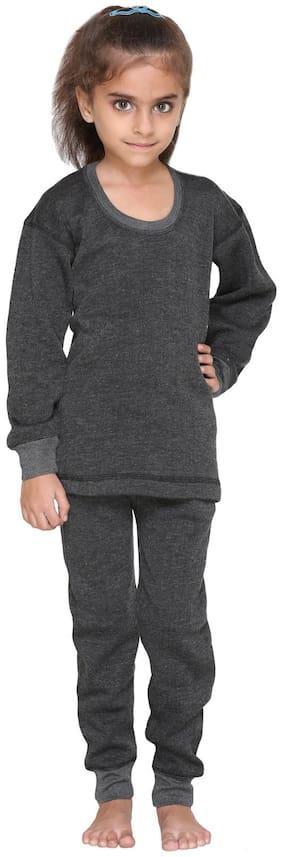 Vimal Jonney Winter Cover Blended Thermal Top & Pyjama Set For Girls