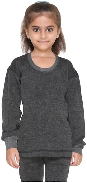 VIMAL JONNEY Girl Wool Solid Sweater - Grey