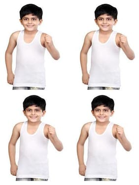 VIP Vest For Boys - White , Set of 4