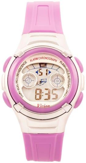 Vizion Digital Multi-color Dial Sports-alarm-backlight Watch For Kids-v-8523b-7