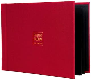 VMS Imperial Thermal Album Cover A4 (21x29 cm) [Red] with Photo Album and Inner Cover by VMS