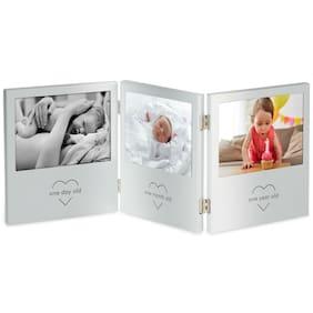 VonHaus My First Year Triple Picture Frame Keepsake Ultrasound Baby Photo Gift