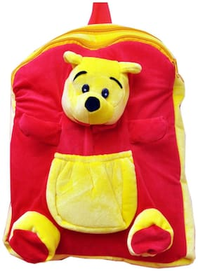 Vpra Enterprises Yellow & Red Bear Soft Toy Bag