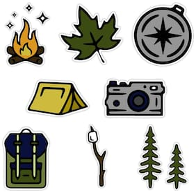 VSCO 3 Stickers Camping Waterproof Water Bottle outdoor Stickers 4 Hydro Flask