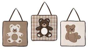 Wall Art Decor Hangings Sweet Jojo Designs Brown Teddy Bear Baby Kid Bedding Set