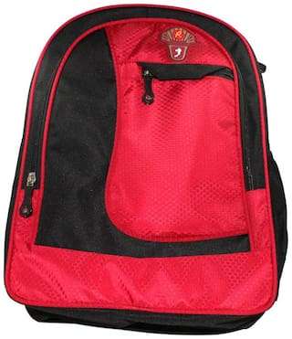 Walson Boys And Girls Elegance School Bag Red And Black